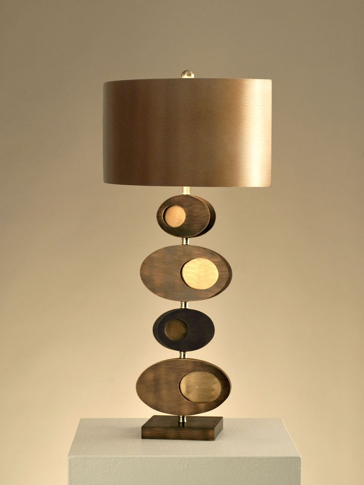 adorable and unique unusual table lamp design with golden shaded lamp