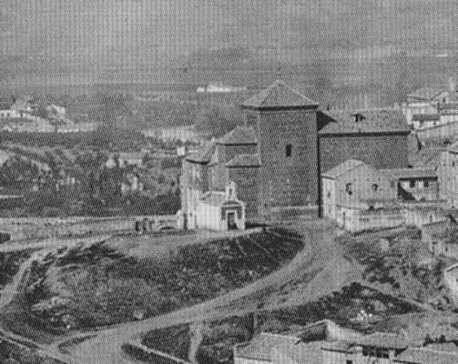 Ermita del Calvario de Toledo hacia 1872. Foto J. Laurent