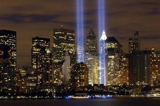 9-11beams of light