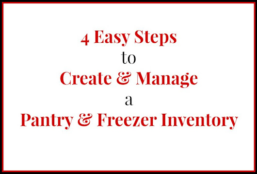 Manageable Pantry and Freezer Inventory