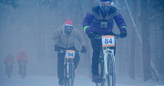 Coldest bicycle race in the world held at -45°C where bikes FROZE