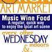 HITNRUN Art Market Logo and event flyer design