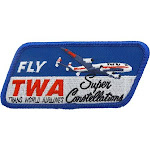 TWA Constellation Patch (Iron on application), Size: Large, Blue