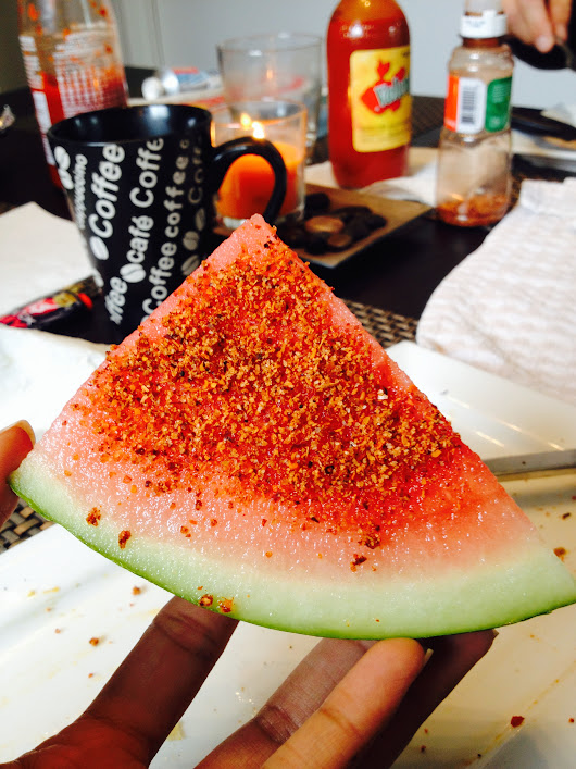 Mexican Street Snack: FRUIT WITH CHILE POWDER AND LIME