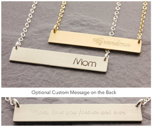 Bar Necklace: Names and Words I
