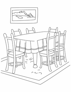 Dining Room Decoration Dining Room Clipart Black And White