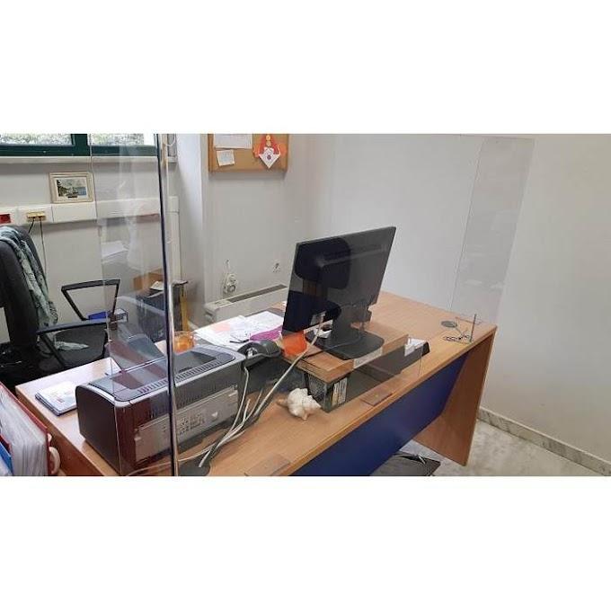 Διαχωριστικό πλεξιγκλάς προστασίας Covid-19 για γκισέ, ταμεία, τραπέζια 50x15x60εκ.