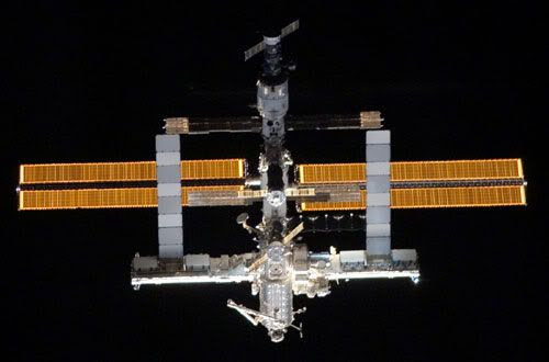 The International Space Station (ISS) in its current configuration (July 6, 2006).