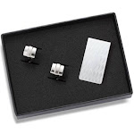 FunFlags Money Clip and A Pair of Cufflink Set FU172333