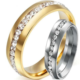 Men Women 8MM Size 5 15 Silver Gold Stainless Steel