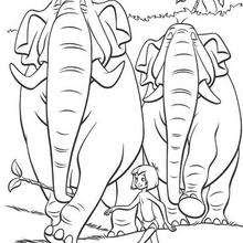 83+ Jungle Book Elephant Coloring Page Best HD