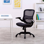 Office Star WorkSmart Breathable Mesh Seat and Back Managers Chair, Black