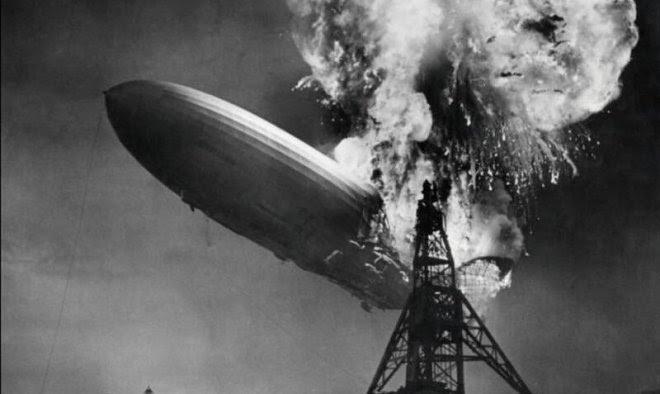 Неопубликованные кадры показывают крушение «Гинденбурга» с невиданного прежде ракурса