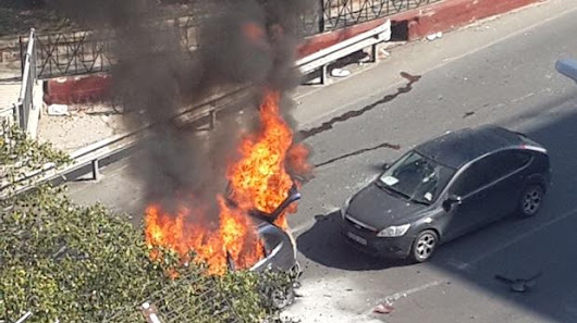 Watch: Car bomb in Msida: driver seriously injured, two others also hurt