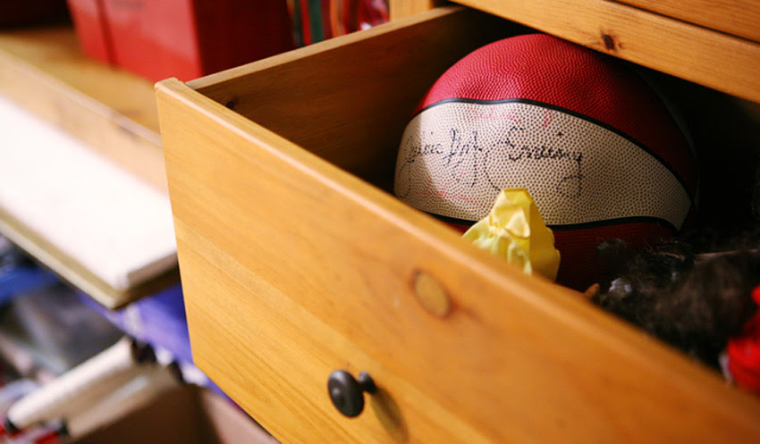 Autographed basketball