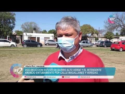 VGG en Acción en Alto Verde: Ricci expresó que se viene el Entubamiento de calle Magallanes y veredas