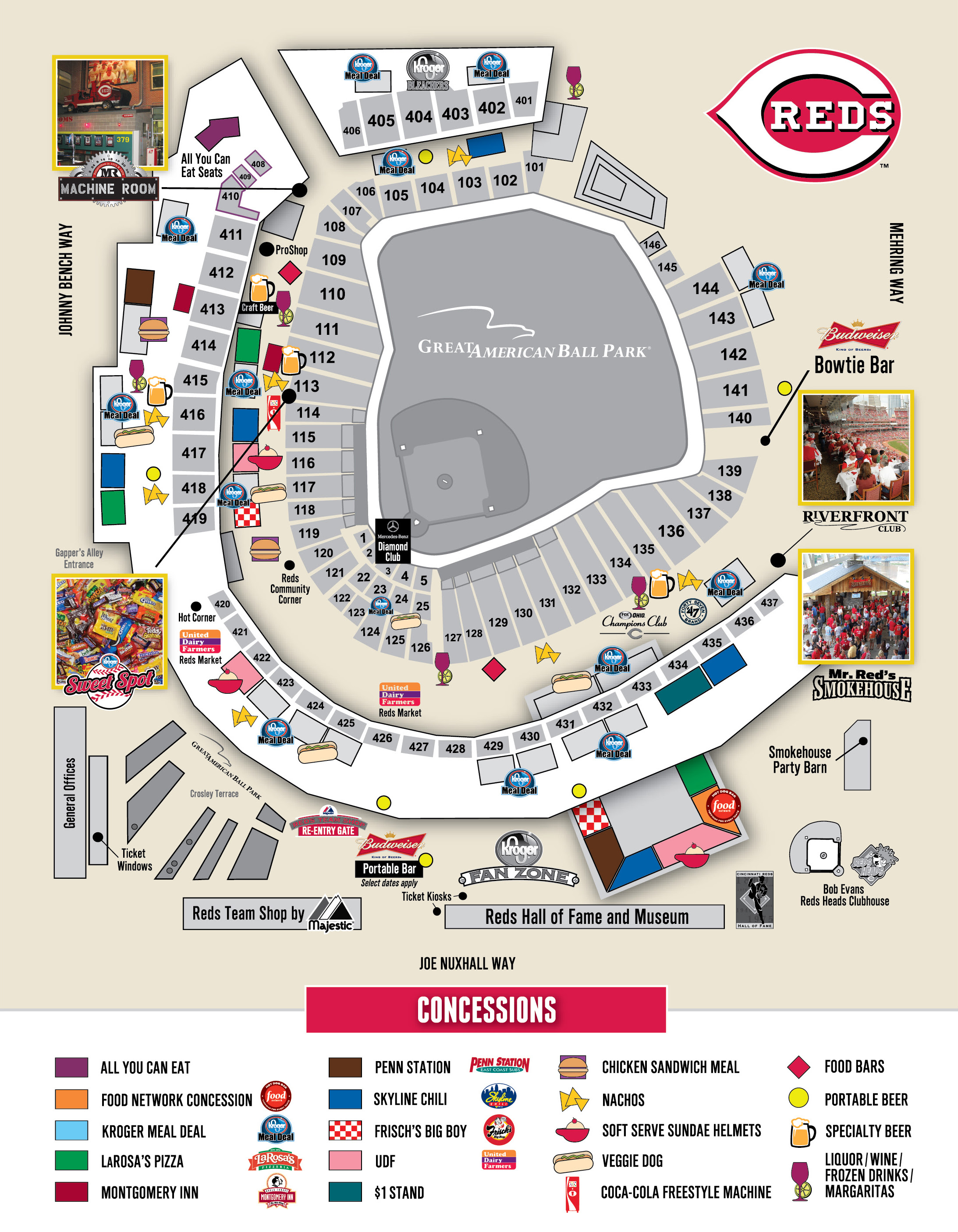 Cincinnati Reds Stadium Map Great American Ballpark Map | Gadgets 2018