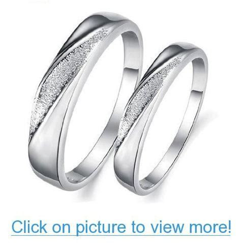 His $ Hers Matching Set Platinum Plated Couple Ring
