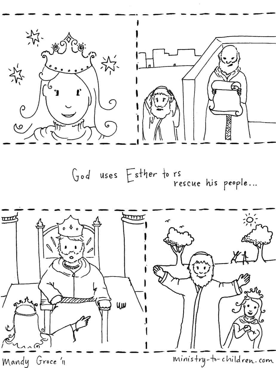 """Story of Esther"" Coloring Page"