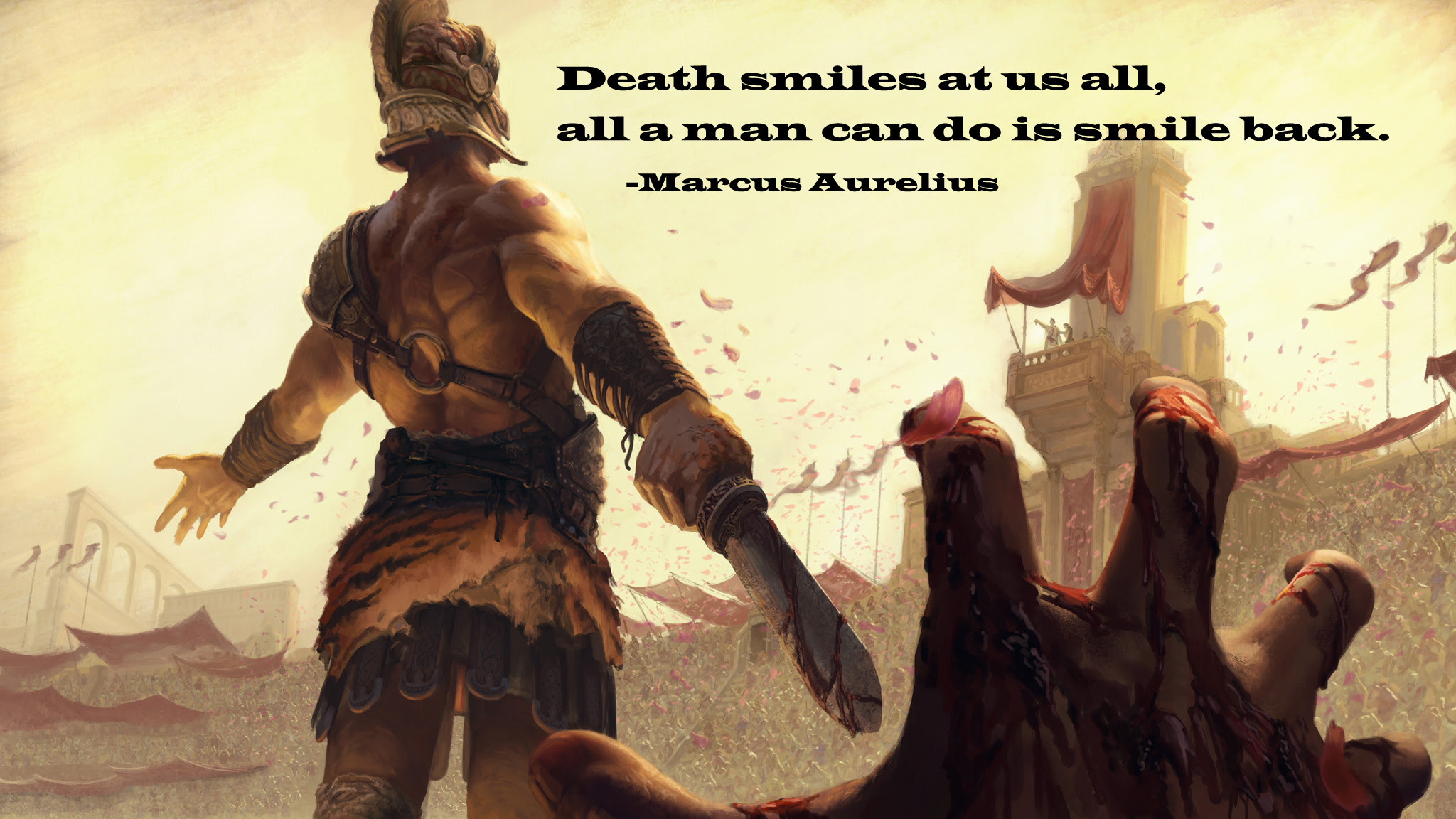 Death Smiles At Us All Marcus Aurelius 2048 1152 Quotesporn