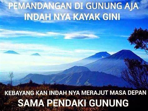 kata kata romantis naik gunung