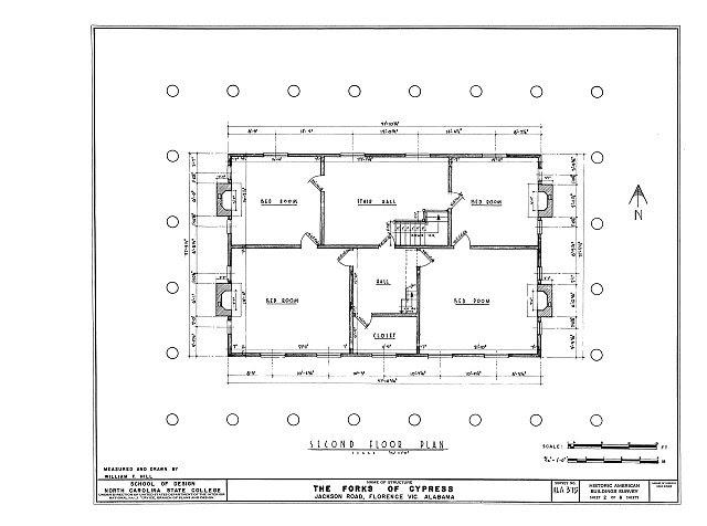 HABS ALA,39-FLO.V,3- (sheet 2 of 6) - Forks of Cypress, Savannah Road (Jackson Road), Florence, Lauderdale County, AL