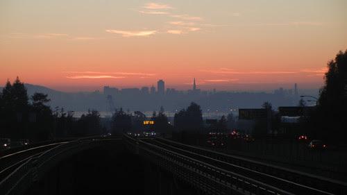 DSCN7434_ San Francisco seen from Rockridge BART Station, 30 Nov 2013