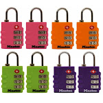 Master Lock Assorted Colors Luggage Locks 4684T