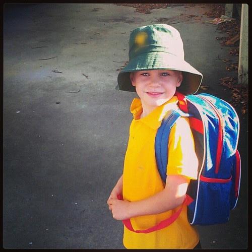 Liam's a big school boy now!