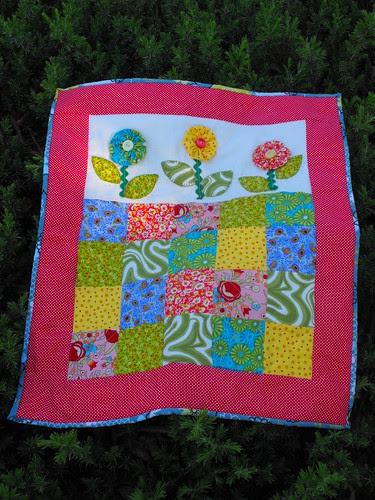 Flower Quilt for Four Seasons Quilt Swap