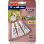 Hartz Ultra Guard Ear Mite Treatment, for Cats - 3 pack, 0.101 fl oz tubes