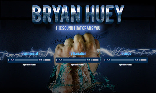 Bryan Huey Voice Over Website | Kathy Osborne: Print & Web Designer