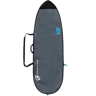 Schwarz//Grau DORSAL Travel Longboard Surfboard Bag 96