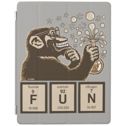 Chemistry monkey discovered fun iPad smart cover