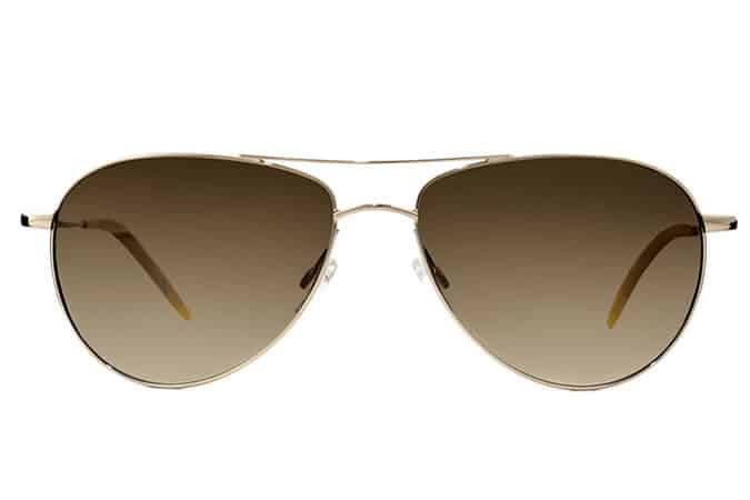 Oliver Peoples Benedict Gold Sunglasses