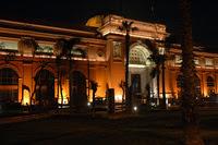 El Museo egipcio de noche