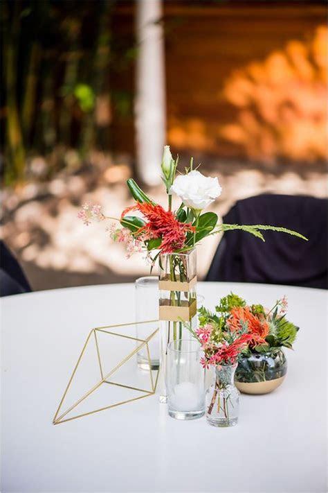 creative geometric wedding ideas deer pearl flowers