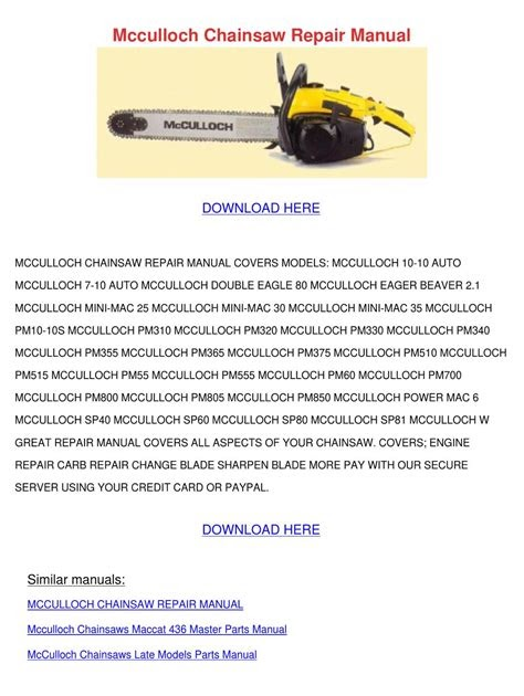 Free PDF eager-beaver-2014-chainsaw-manual PDF ...