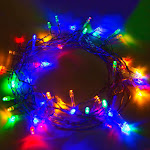 Aleko 60 LED Solar Powered Christmas String Lights, Multicolor