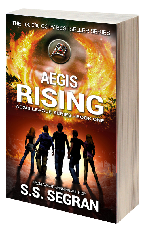Book Cover for Aegis Rising from sci fi fantasy series, Aegis League by S.S. Segran.