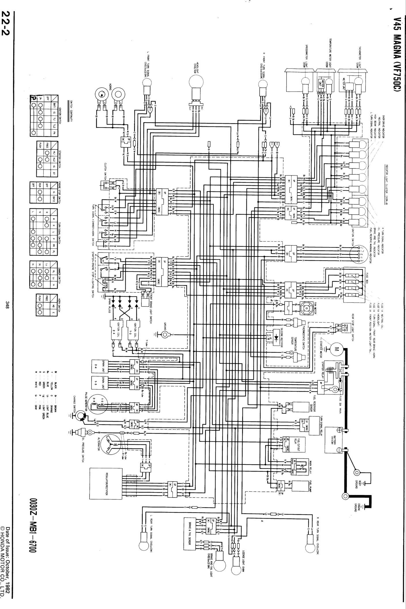 Honda V65 Sabre Wiring Diagram - Wiring Diagram