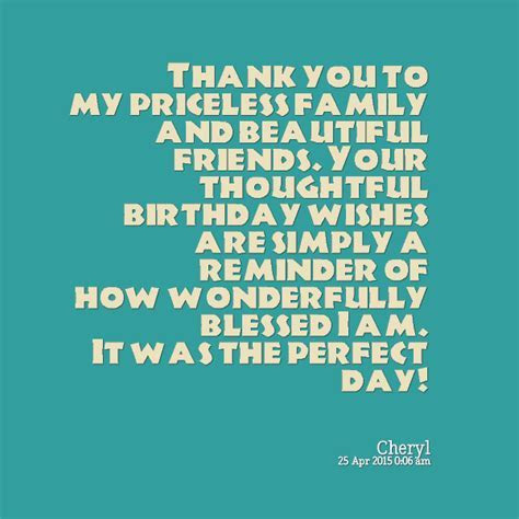 Birthday Thank You Friends Quotes. QuotesGram