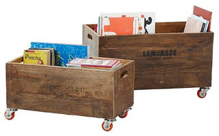 Rolling Storage Crate eclectic toy storage