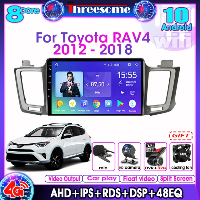 Special Price For Toyota RAV4 2012-2018 Car Radio Android10.0 2Din Multimedia Video Player Navigation GPS DSP RDS Stereo 4G+64G 4G net WIFI