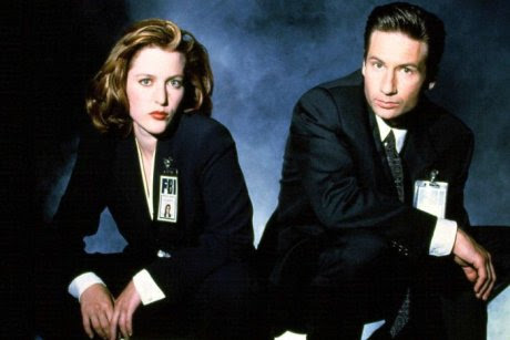 Fictitious FBI agents Dana Scully and Fox Mulder.