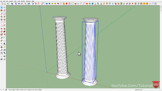How to Make Column In SketchUp | SketchUp Video Tutorial