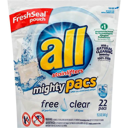 All Mighty Pacs Laundry Detergent, Super Concentrated, Free