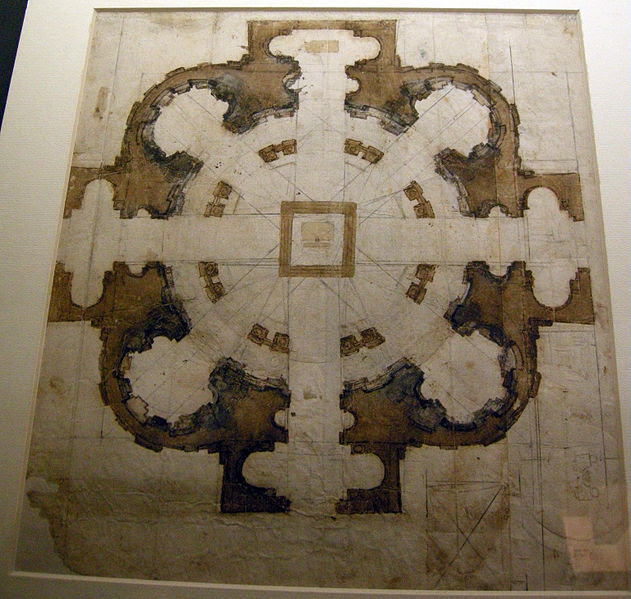 File:Michelangelo, project for san Giovanni de' Fiorentini 01.JPG
