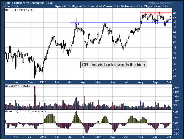 1-year chart of CRL (Charles River Laboratories International, Inc.)