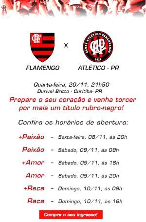Flamengo venda de ingressos jogo Atlético-PR (Foto: Reprodução)